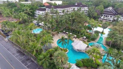 Swimming Pool. Aerial. Phuket. Thailand.