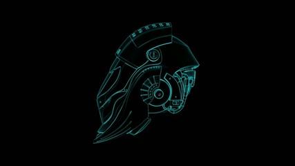 3D Helmet with alpha matte