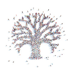 People in the form of a tree.
