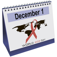 World AIDS day calendar