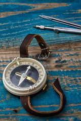 old-fashioned compass