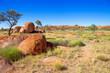 Leinwanddruck Bild - Devils Marbles in the Northern Territory, Australia.