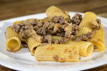 pasta with mince and mushrooms