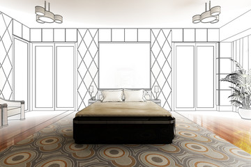 Classical Bedroom Design (drawing)