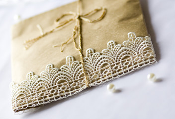 envelope with lace