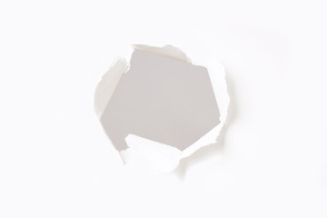 hole in paper wall