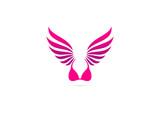 wing lingerie vector logo design