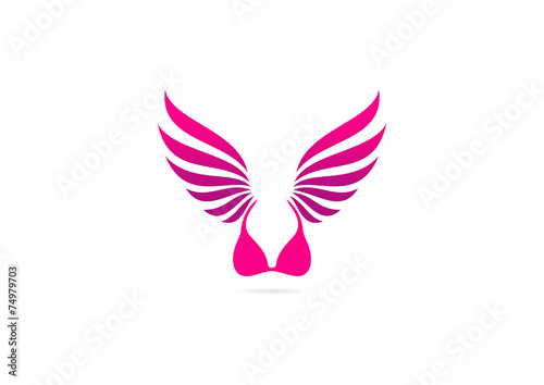 wing lingerie vector logo design - 74979703