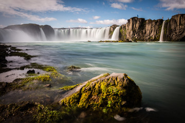 Iceland, Godafoss waterfall in a sunny day
