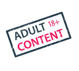 adult content stamp vector illustration, eps10, easy to edit