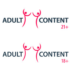 adult content sign vector illustration, eps10, easy to edit