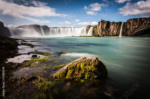 Staande foto Scandinavië Iceland, Godafoss waterfall in a sunny day