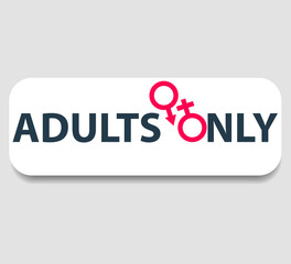 adults only sign vector illustration, eps10, easy to edit