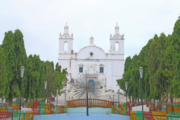 immaculate colonial style St thomas's Church Diu gujarat india