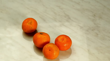 tangerines appear in the form of heart