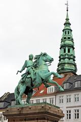 Statue of Absalon on Hojbro square in Copenhagen, Denmark.