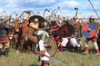 Leinwanddruck Bild - Medieval battle show Voinovo Pole (Warriors' Field)
