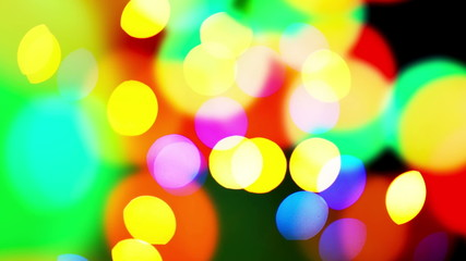 Bokeh lights Beautiful colorful defocused bokeh festive lights
