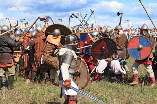 Poster Medieval battle show Voinovo Pole (Warriors' Field)