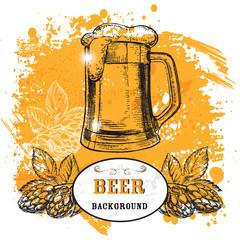 Hand drawn illustrations beer
