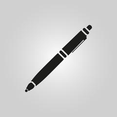 The ballpoint pen icon. Pen symbol. Flat. Vector