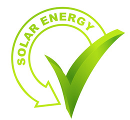 solar energy symbol validated green