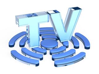 TV (Television) signal sign