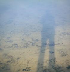 Silhouette auf Wasseroberfläche