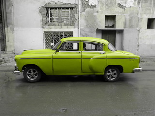 American old car in Cuba