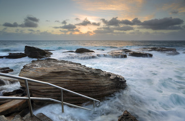 Giles Baths Coogee Rock Pool Sunrise Seascape