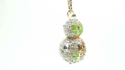 Jewelery beads necklace with bright diamond crystals
