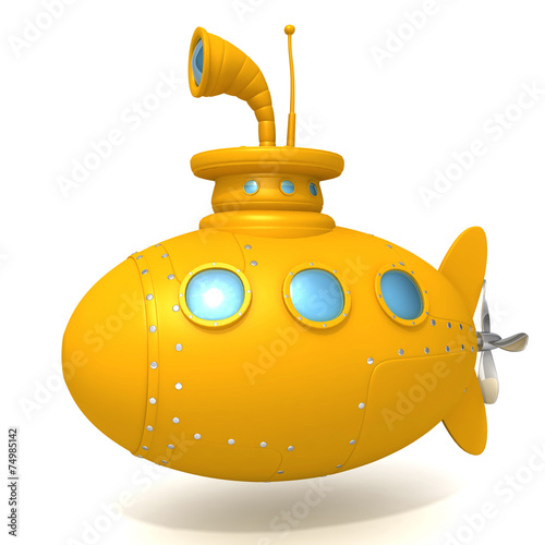 Leinwanddruck Bild Submarine 3d illustration