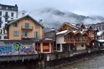 Франция, горнолыжный и альпинистский курорт Шамони