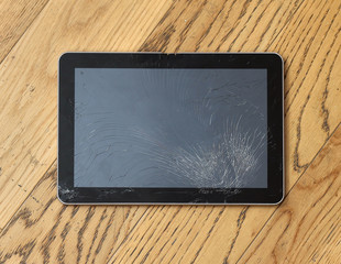 Cracked tablet