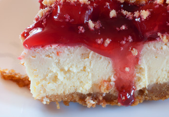 Cheesecake up close
