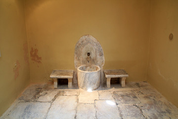 Old Ottoman bathhouse interior on Kos Island in Greece