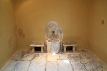 Old Ottoman bathhouse interior on Kos Island in Greece