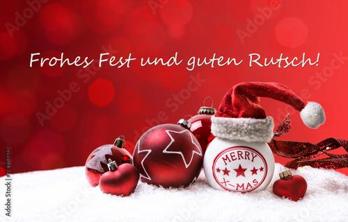 canvas print picture Frohes Fest und guten Rutsch
