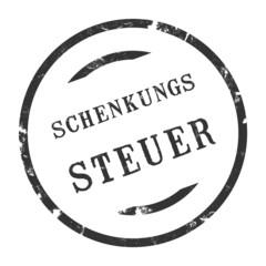 sk222 - StempelGrafik Rund - Schenkungssteuer - g2710