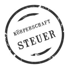 sk223 - StempelGrafik Rund - Körperschaftsteuer - g2711