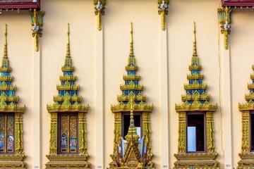 Thailand temple windows