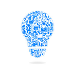 Vector innovative business idea lamp
