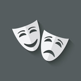 comedy and tragedy theatrical masks - 74989963