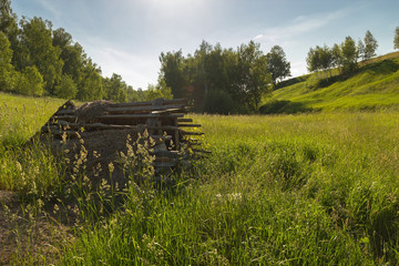 Forgotten hut on the hill
