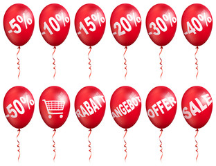 werbung ballon set, shop balloon set