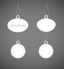 Simple decorative badges.