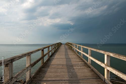 canvas print picture Seebrücke von Sassnitz, Rügen, Deutschland