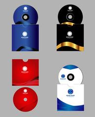 Cd, DVD cover design template