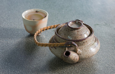 Japan teapot and cup