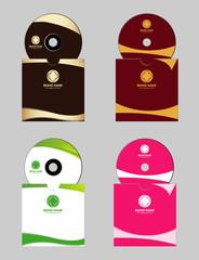 Set of vector cd cover design template design